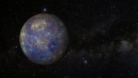 Una revolución animada del planeta Mercury libre illustration