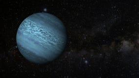 Una revolución animada del planeta Neptuno stock de ilustración
