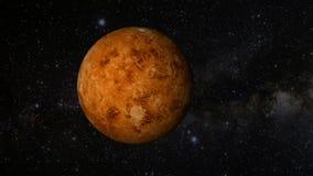 Una revolución animada del planeta Venus ilustración del vector