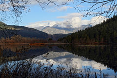 Una riflessione del lago mile Fotografie Stock