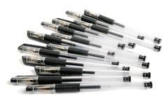 Una riga delle penne di ballpoint Fotografia Stock
