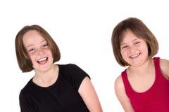 Una risata delle due ragazze Fotografia Stock Libera da Diritti