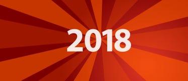 una risoluzione di 2018 nuovi anni e la rivoluzione rossa dell'obiettivo splendono il retro stile di colore Immagine Stock