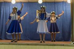 Una riunione festiva e un concerto su 9 possono 2017 nella regione di Kaluga di Russia Immagini Stock Libere da Diritti