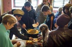 Una riunione festiva e un concerto su 9 possono 2017 nella regione di Kaluga di Russia Fotografie Stock Libere da Diritti