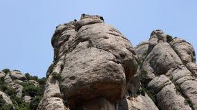 Una roccia dell'alta montagna Fotografia Stock