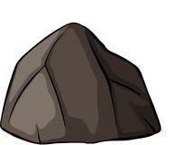 Una roccia grigia Immagini Stock Libere da Diritti
