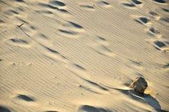 Una roccia sulla sabbia immagini stock