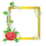 Una rosa con el marco libre illustration