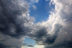 Una rottura nella tempesta Fotografie Stock