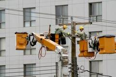 Una rotura de la electricidad. Imagen de archivo libre de regalías