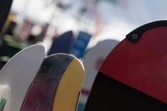 Una rotura de la snowboard Foto de archivo