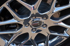 Una rueda ligera de encargo brilla Foto de archivo
