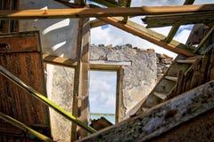 Una ruina de cuál era una vez una casa Foto de archivo