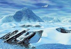 Una ruina de la nave espacial libre illustration