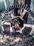 Una ruota nera dura Fotografie Stock