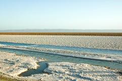 Una sal y un lago en la África del Norte Fotografía de archivo libre de regalías