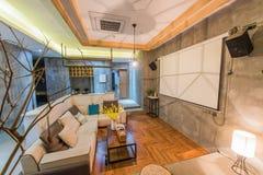 Una sala de estar imagen de archivo