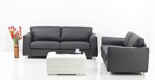 Una sala de estar minimalista moderna Fotografía de archivo libre de regalías