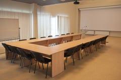 Una sala de reunión vacía Imagenes de archivo