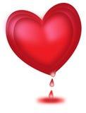 Una sangría grande del corazón en día de San Valentín Fotografía de archivo libre de regalías