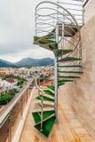 Una scala a chiocciola nella villa nel Montenegro Fotografia Stock