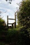 Una scaletta inglese del paese Fotografie Stock Libere da Diritti