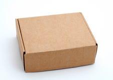 Una scatola di cartone chiusa fotografia stock
