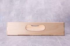 Una scatola di legno della cucina immagini stock libere da diritti