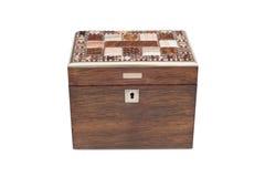 Una scatola di legno per tutti gli usi d'annata Fotografia Stock Libera da Diritti
