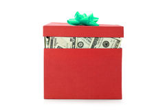 Una scatola di soldi Immagine Stock