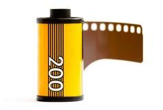 Una scatola metallica della pellicola di 35mm Fotografia Stock Libera da Diritti