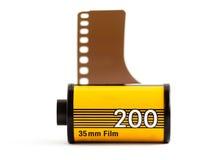 Una scatola metallica della pellicola di 35mm Immagini Stock Libere da Diritti