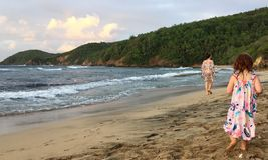 Una scena dall'isola della Martinica fotografie stock libere da diritti