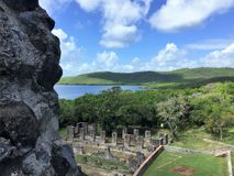 Una scena dall'isola della Martinica immagini stock