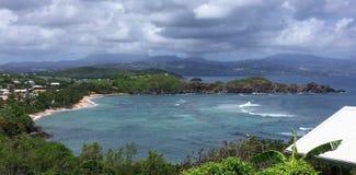 Una scena dall'isola della Martinica immagine stock libera da diritti