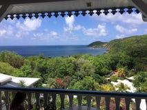 Una scena dalla Martinica nei Caraibi immagine stock