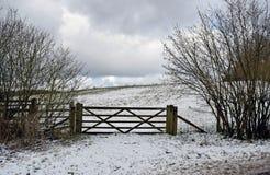 Una scena della neve di inverno nella campagna di Risonanza fotografia stock libera da diritti