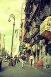 Una scena della via del SOHO Manhattan più bassa, New York fotografia stock