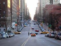 Una scena della via in NYC Fotografia Stock Libera da Diritti