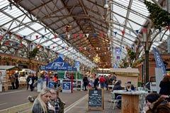 Una scena di Natale è il porto di Dover Kent immagini stock
