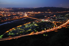 Una scena di notte Fotografia Stock Libera da Diritti