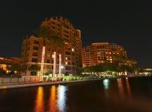 Una scena di notte del lungomare di Scottsdale Fotografia Stock Libera da Diritti