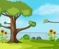 Una scena verde del giardino royalty illustrazione gratis