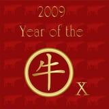 una scheda cinese di 2009 NY Fotografia Stock