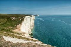 Una scogliera di sette sorelle, Brighton, Regno Unito, Breat Gran-Bretagna Immagini Stock Libere da Diritti