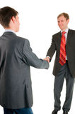 Una scossa della mano di due uomini degli uomini d'affari Fotografia Stock