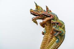 Una scultura di sette Naga delle teste Immagini Stock Libere da Diritti