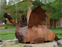 Una scultura di un drago Immagine Stock