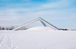 Una scultura nel parco di Sapporo nell'inverno Fotografia Stock
